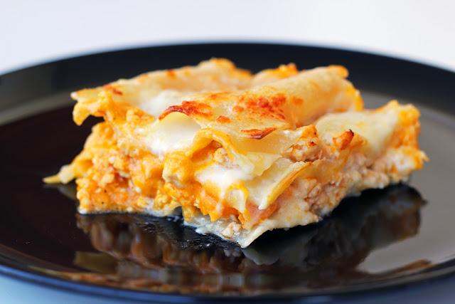 Λαζάνια με Κοτόπουλο και Κολοκύθα / Lasagna with Chicken and Pumpkin