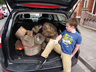 ford mondeo estate boot full of scout camp fire logs
