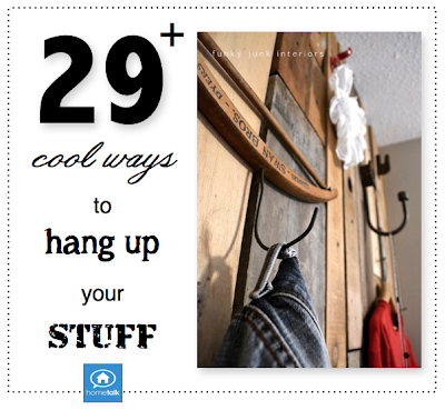 29+ cool ways to hang up your stuff, from HomeTalk featured and curated by Funky Junk Interiors