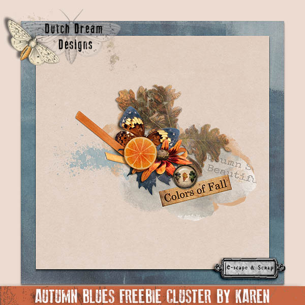 Autumn Blues Freebie Cluster
