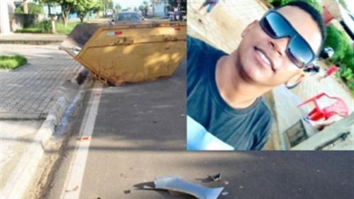 Jvem morre ao bater de motoneta em caçamba de entulhos em Ouro Preto do Oeste