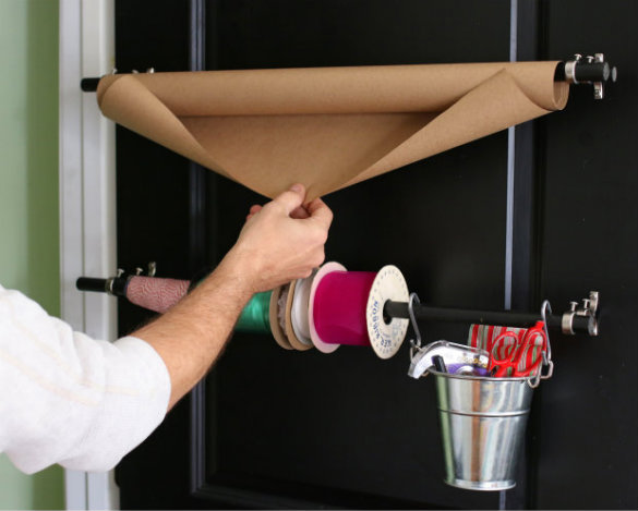 Charmant Over On EHow: DIY Closet Door Gift Wrapping Station
