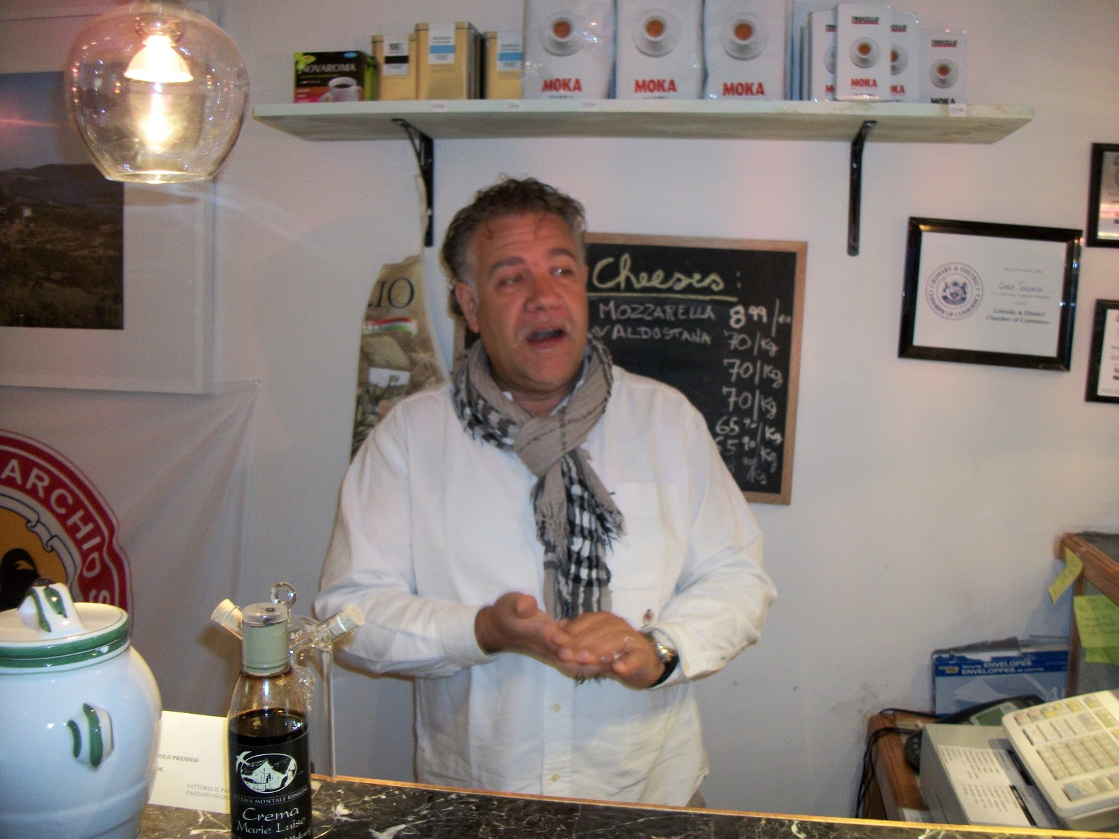 On the Road with the Grape Guy Report from  Visit to Casa Toscana in Grimsby  October 20 2012