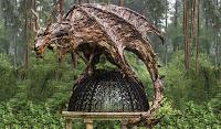 Ağaçtan Yapılmış Ahşap Oyma Hayvan Heykelleri