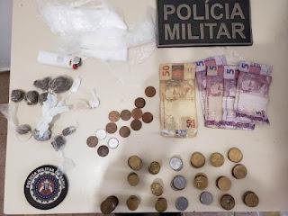 Polícia prende suspeito de tráfico