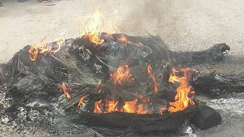 Suspected armed robbers burnt Calabar