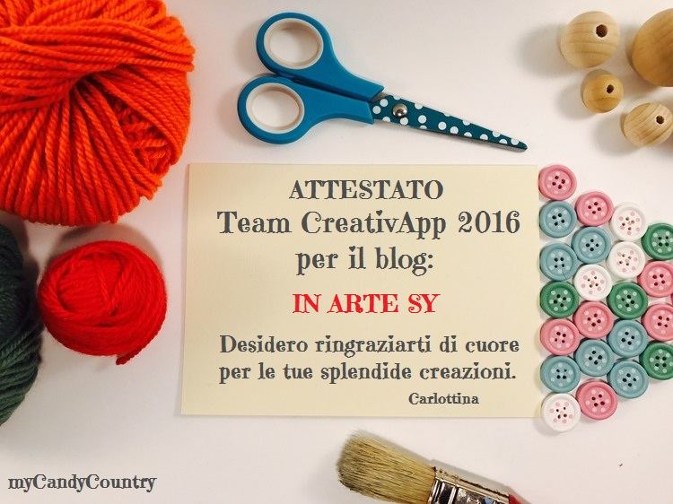♡Attestato 2016 Team CreativApp