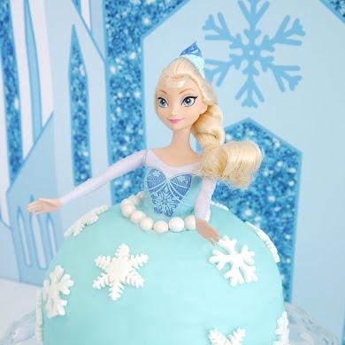 Un Gâteaux DIY Poupée Elsa Reine des Neiges