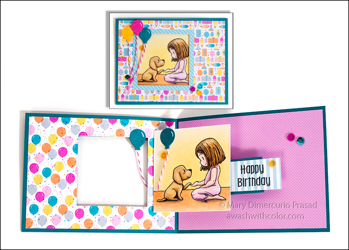 Sweet Puppy Pop Up Birthday Card