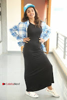 Actress Tejaswi Madivada Stills in Balck Long Dress at Babu Baga Busy Movie Interview  0035.jpg