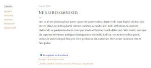 Le bouton Enregistrer de Facebook, dans le pied de l'article.