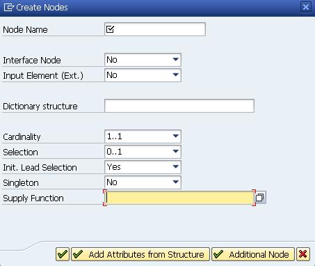 WebDynpro ABAP : Context Node and Attribute Properties
