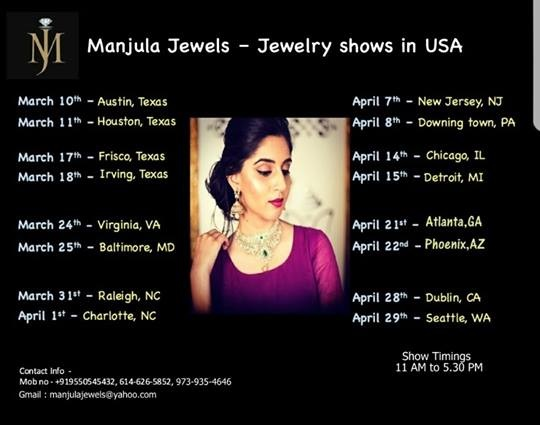 manjula jewels USA tour