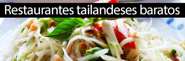 Restaurantes tailandeses baratos en Madrid