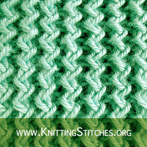 Zig Zag Rib Stitch | Knitting Stitch Patterns. Free Knitting Pattern.  #knittingstitches #knittingpattern