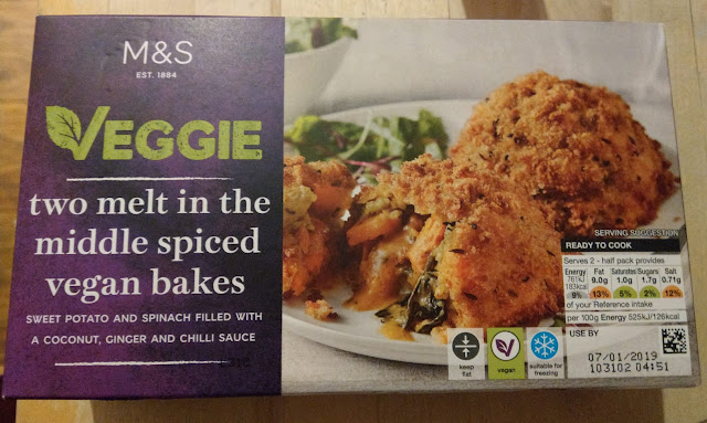 """A box of """"vegan bakes"""" from M&S"""