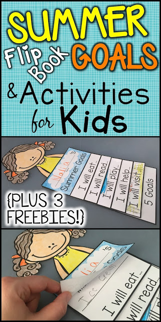 Summer activities flip book for kids kindergarten first grade