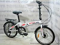 Sepeda Lipat Element 911 Police Texas Rem Depan Cakram 20 Inci