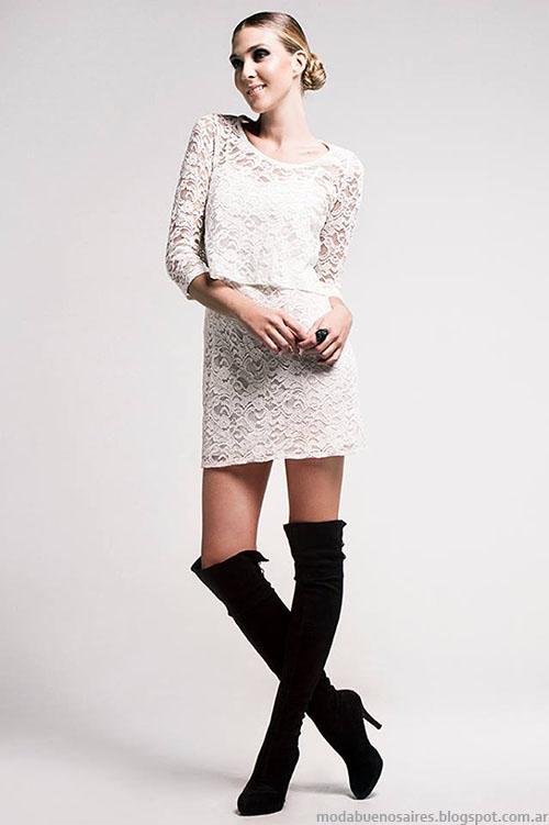 Moda invierno vestidos cortos Verónica Far.