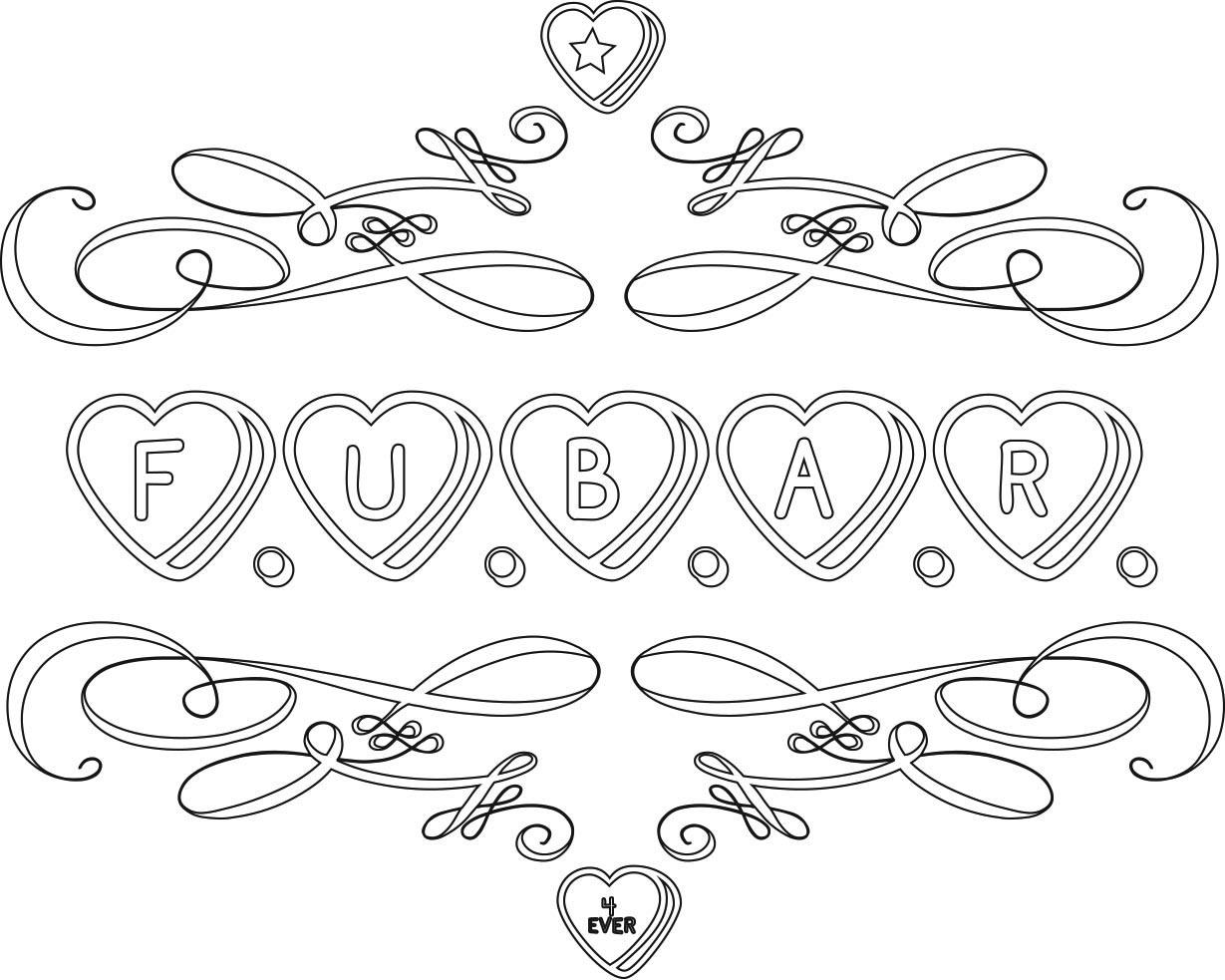 Sweater Surgery: F.U.B.A.R. 4 Ever conversation hearts