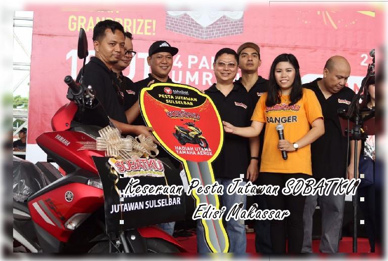 Keseruan Pesta Jutawan Sobatku Edisi Makassar