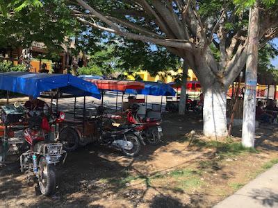 Moto-taxi à Homun pour visiter les cenotes
