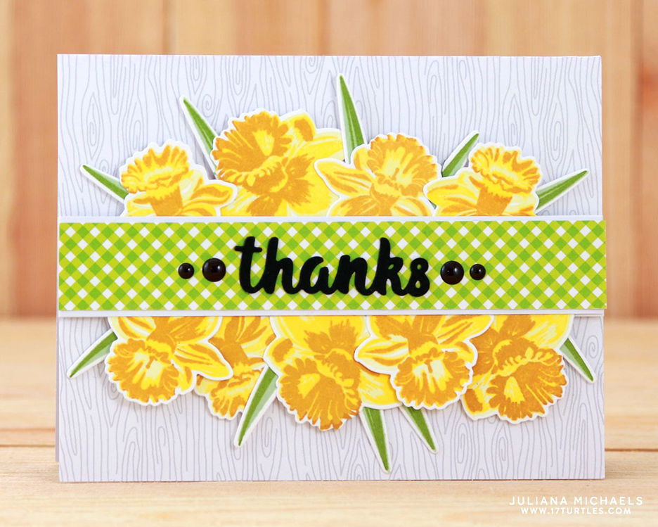 Sunny studio guest designer spotlight cards with juliana michaels sunny studio stamps turtley awesome and daffodil dreams cards by juliana michaels m4hsunfo