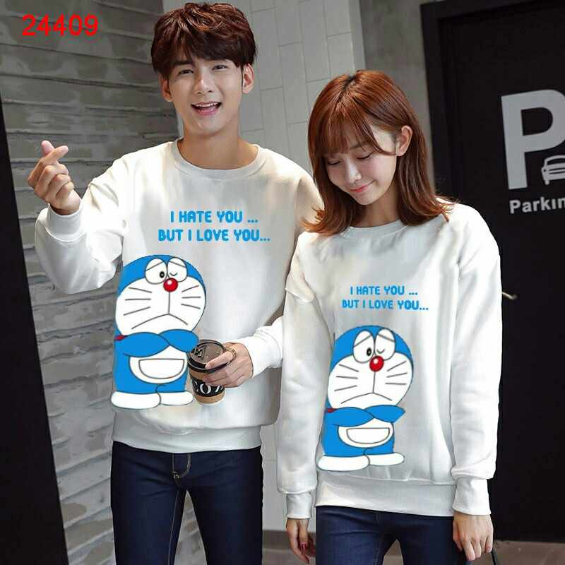 Jual Sweater Couple Sweater Dora Love Hate - 24409