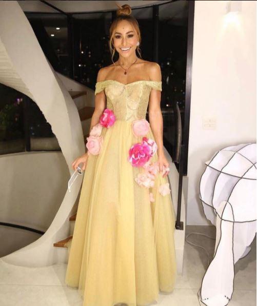 Sabrina Sato vestido amarelo