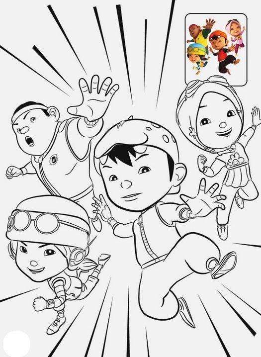 Tranh cho bé tô màu BoBoiBoy