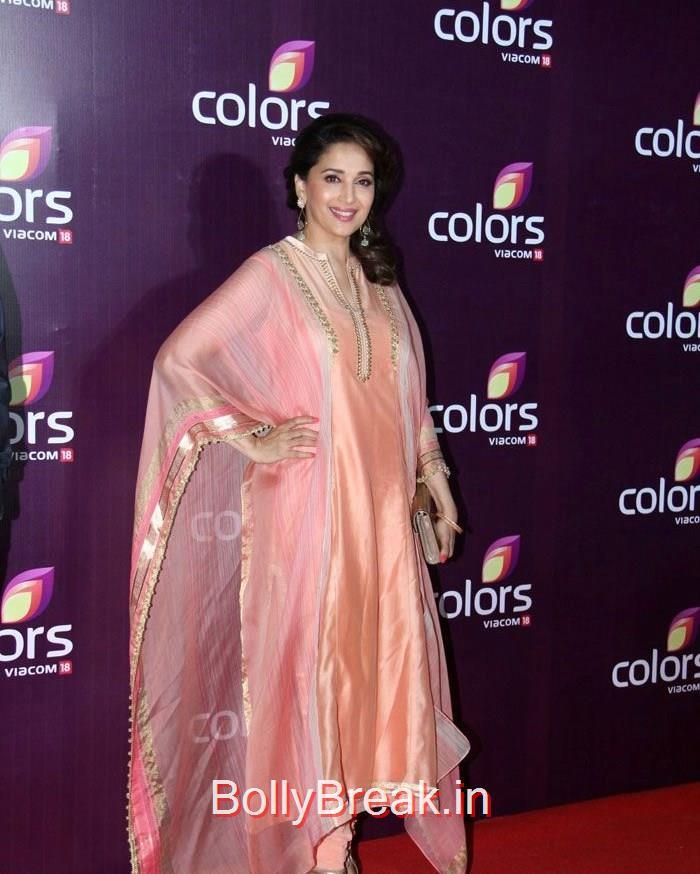 Madhuri Dixit Nene, Lauren Gotlieb Sonali Kulkarni Urvashi Rautela Hot Pics At Colors Leadership Awards 2015