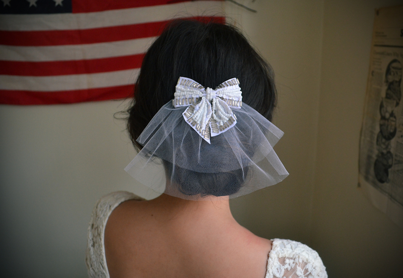 Shine Trim: Wedding DIY: Two Tier Hair Bow