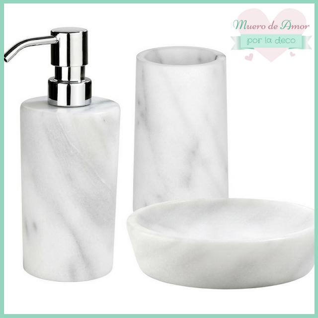 Accesorios de baño de mármol