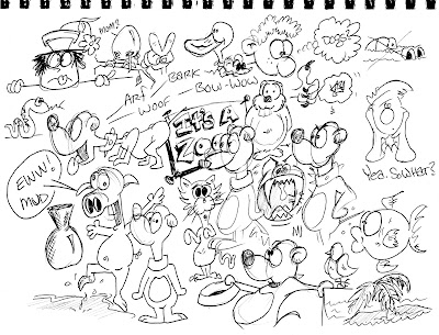boon cartoonist for hire draws animals pig dog duck gofer fish bird cat