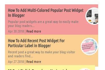 5 widget recent posts keren, klasik dan cantik