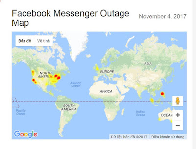 Facebook Messenger sập tại Việt Nam AnonyHome