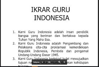 Teks Ikrar Guru Indonesia, http://www.librarypendidikan.com/