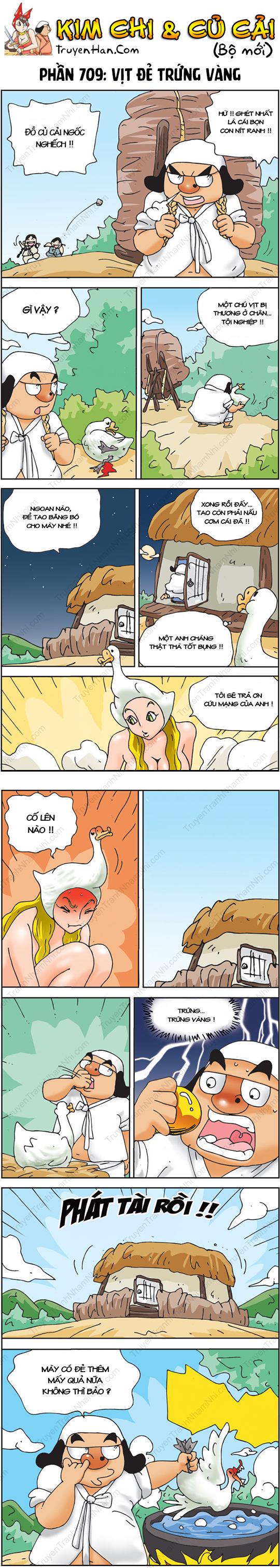 Kim Chi & Củ Cải (bộ mới) phần 709: Vịt đẻ trứng vàng