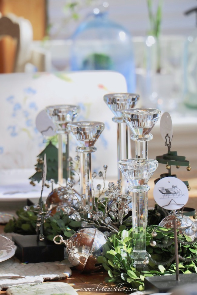 christmas-sleigh-bell-tablesettimg-crystal-candlesticks