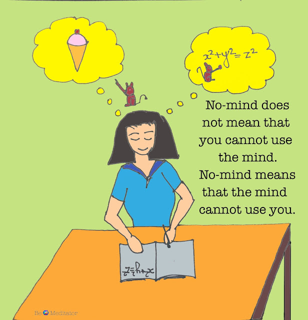 No-mind does not mean that you cannot use the mind. No-mind means that the mind cannot use you.