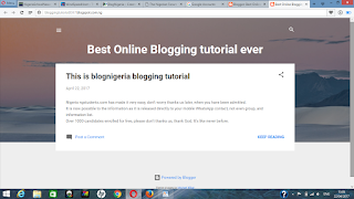 completed blogspot website