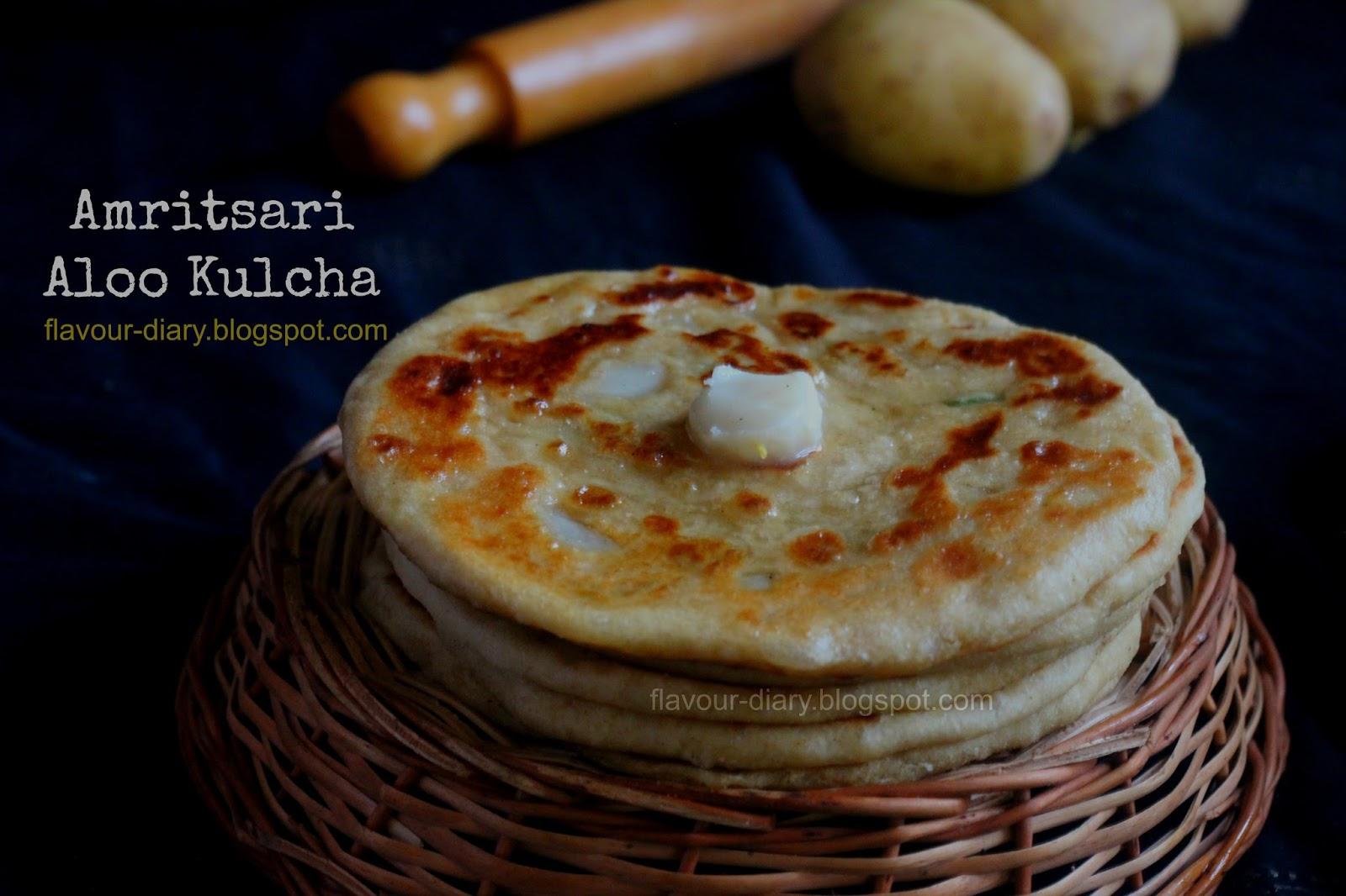 Flavour diary amritsari aloo kulcha recipe indian flat bread with amritsari aloo kulcha recipe indian flat bread with spicy potato filling flavour diary forumfinder Images