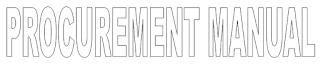 Procurement Manual