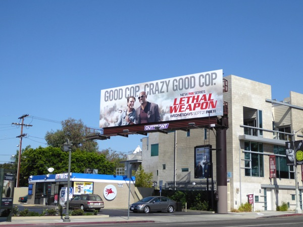 Lethal Weapon TV series billboard