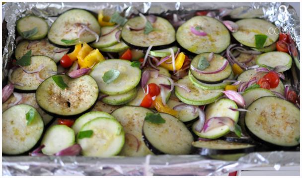 mix de legumes ao forno