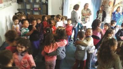 Grupo de Fandango Batido São Gonçalo recebe Projeto Valores e Virtudes do Ensino Infantil