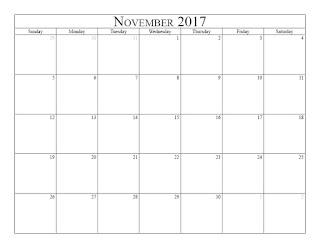 Free Printable Calendar November