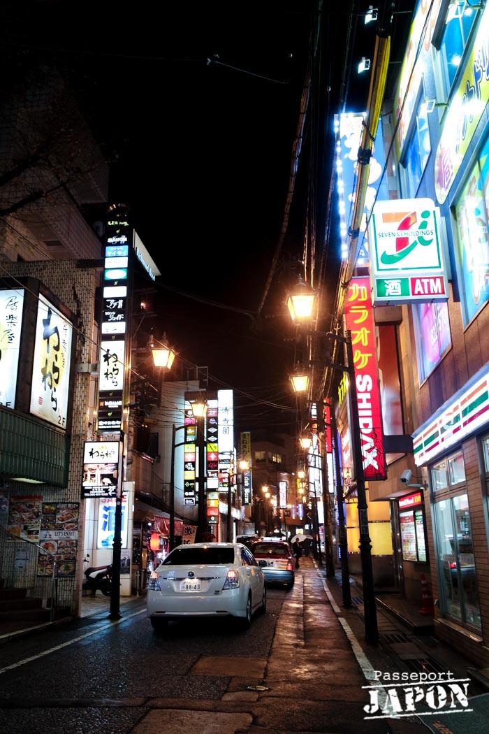 Enseignes colorées, Chinatown, Nagasaki (nocturne)