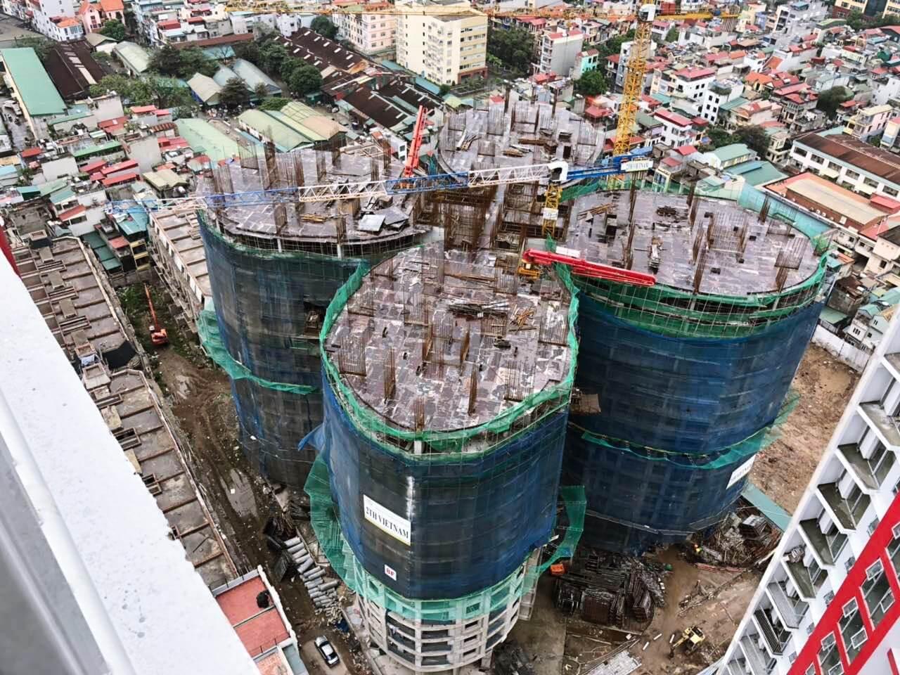 Hình ảnh thực tế mới nhất của dự án Sky View Plaza