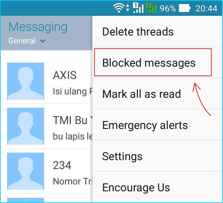 Blok SMS Penipuan - Unblock SMS